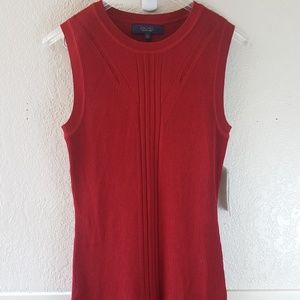 Rachel Rachel Roy ruby red ribbed knit dress NWT
